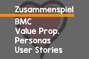 Business Model Canvas, Value Proposition Canvas, Personas und User Stories