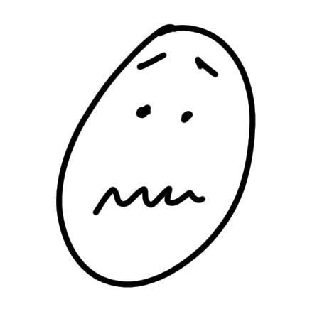 Ängstliches Gesicht