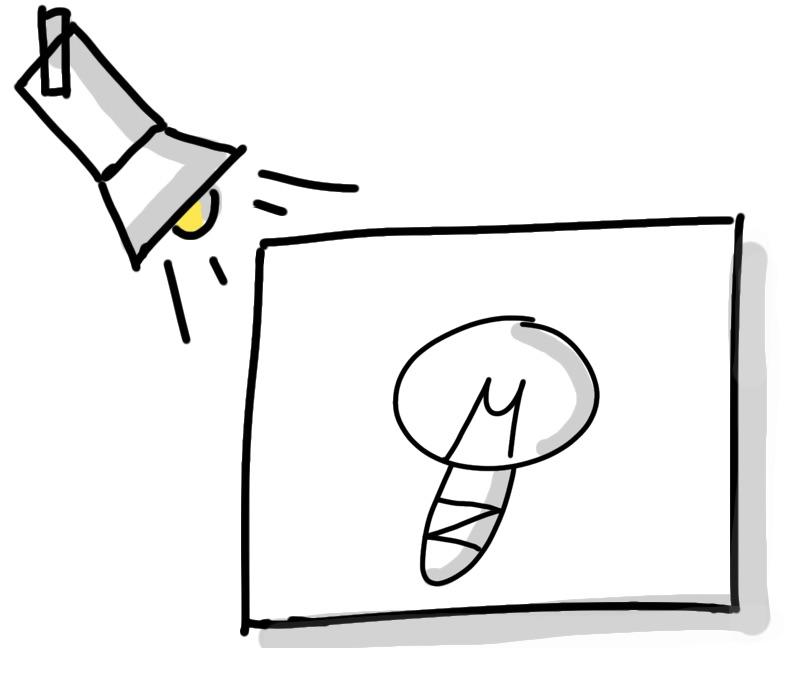 Box und Lampe