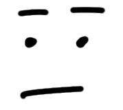 Gesicht sketchnote straight straight