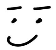 Gesicht sketchnote straight up