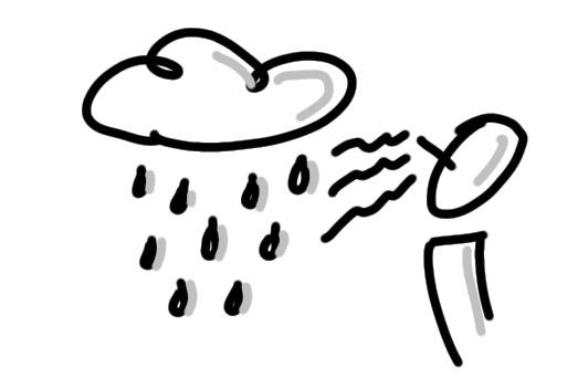 Ich kann den Regen riechen