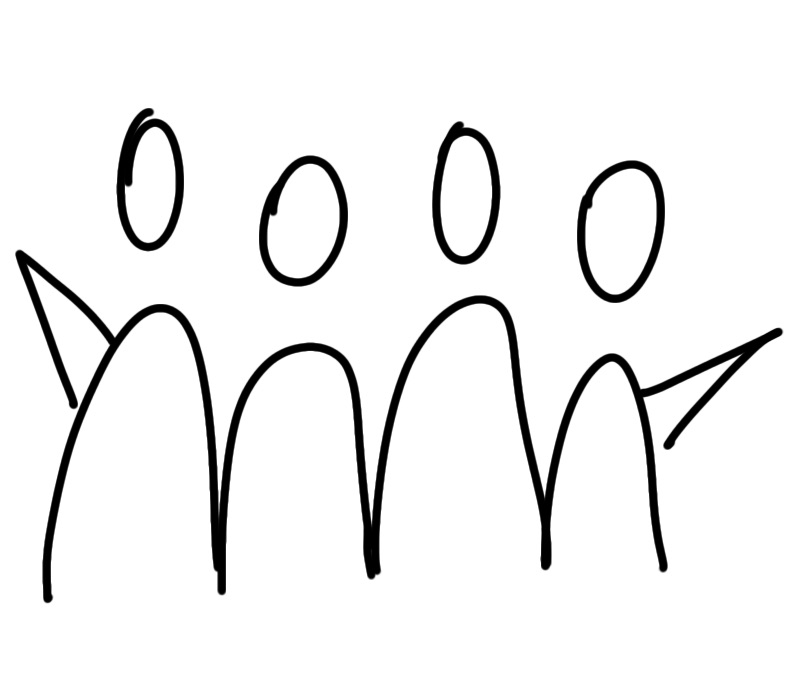 Menschen Gruppe zeichnen