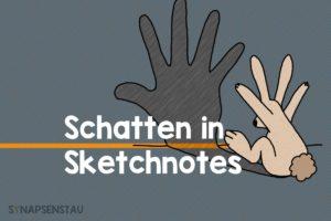 Schatten in Sketchnotes
