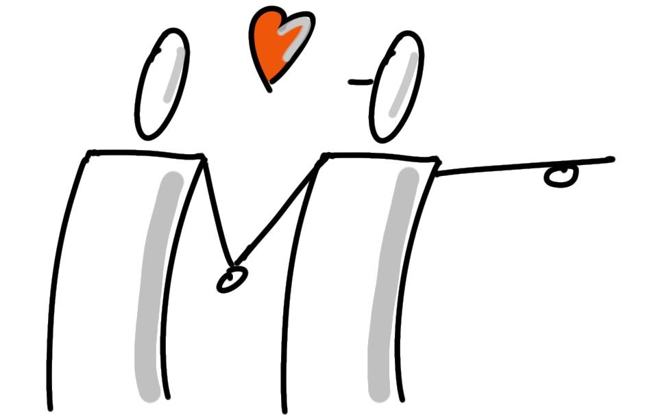 Verliebtes Pärchen