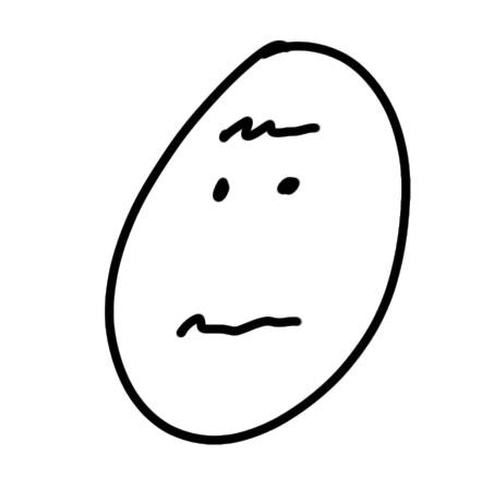 Weiss nicht Gesicht