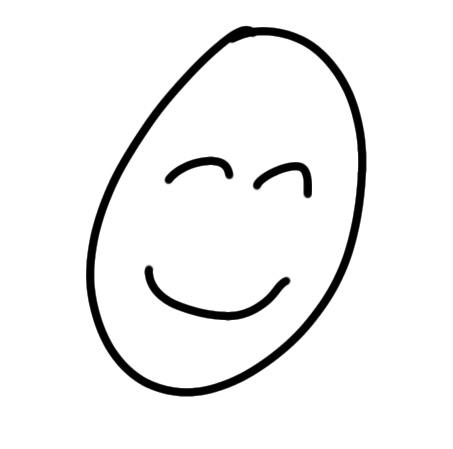 Zufriedenes Gesicht zeichnen