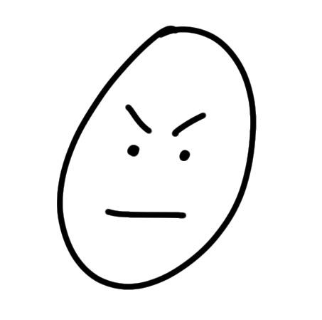 ärgerliches Gesicht zeichnen