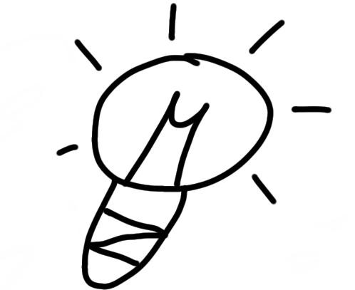sketchnote Lampe zeichnen
