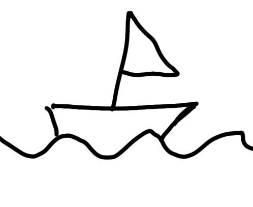 sketchnote Segelboot zeichnen