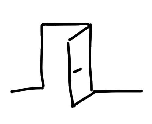 sketchnote Tür zeichnen