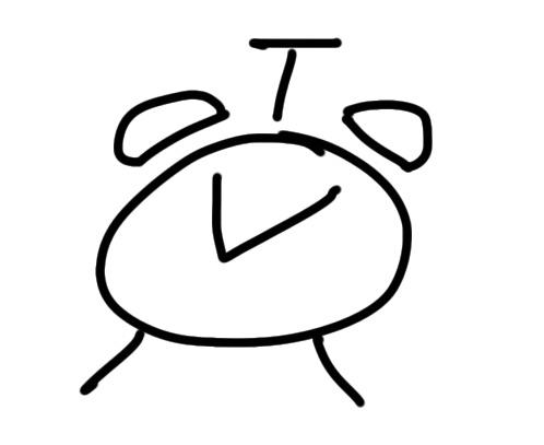 sketchnote Wecker zeichnen